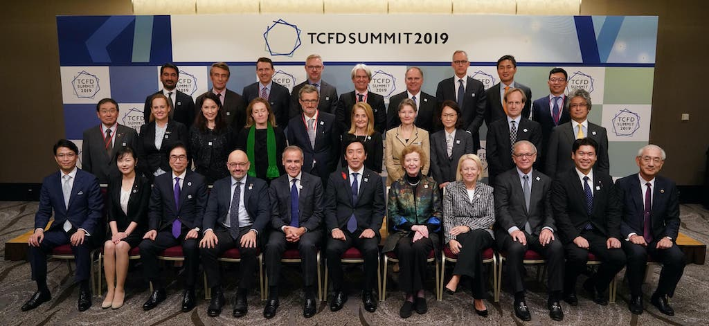 Dr. Madelyn Antoncic (center), CEO of the Global Algorithmic Institute, attending the high-level discussion and lunch before speaking on a panel at the Task Force on Climate-related Financial Disclosures (TCFD) Summit in Tokyo.