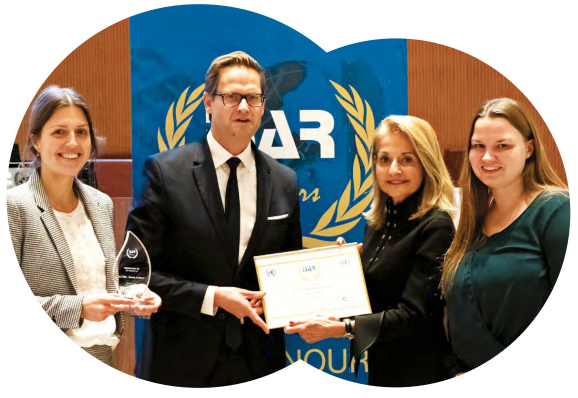 Dr. Madelyn Antoncic, CEO, Sustainability Accounting Standards Board, presenting the ISAR Honour Award in Geneva, Switzerland. (October 30, 2019)